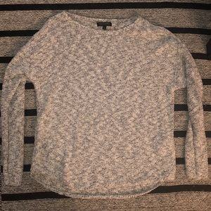 NWOT Marked black & white scoop neck sweater